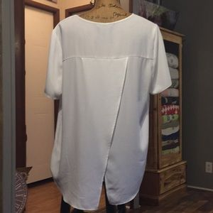 F&F White Blouse with cris-cross fabric on back